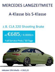 Mercedes-Benz Langzeitmiete Angebote